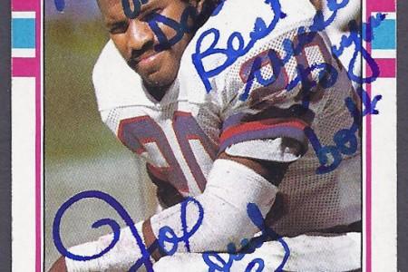Goooo Giants…Autographed Joe Morris